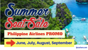 Philippine Airlines Summer Seat Sale Promo for JUNE, JULY, AUGUST, SEPTEMBER