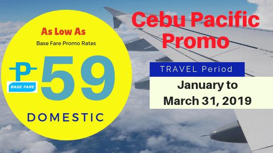 cebu pacific promo 2019 as low as 59 pesos