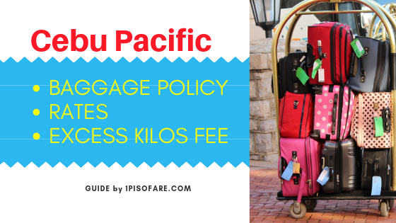 Cebu Pacific baggage policy and rates