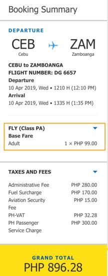 Cebu to Zamboanga Promo 2019