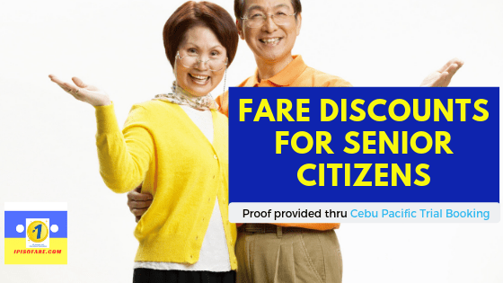 airfare discounts senior citizens 2019