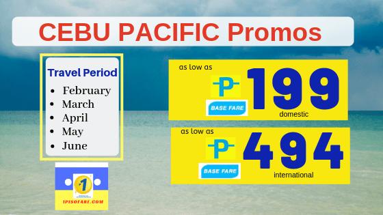 promo 199 and 499 Cebu pacific