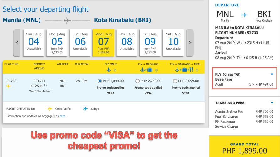 cebu pacific promo code for seat sale 2019