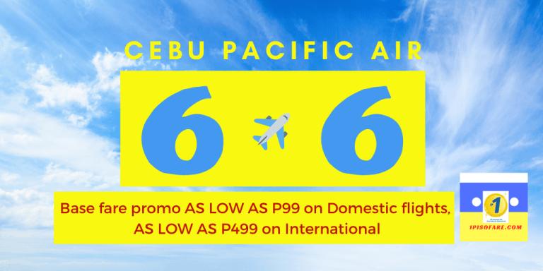 6.6 Cebu Pacific Promo