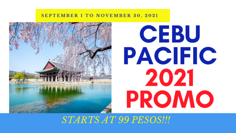 Cebu Pacific Air Promo 2021 September to November