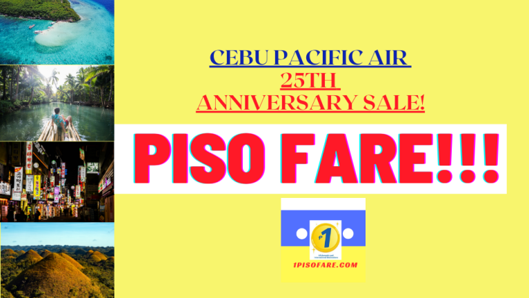 Cebu Pacific piso fare 25th anniversary