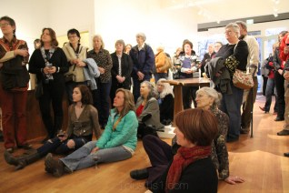 Some gallery visitors enjoying a talk