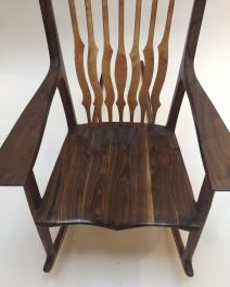 Tim Carney Walnut Rocker