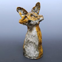 Head Tilt Fox by Trudy Skari