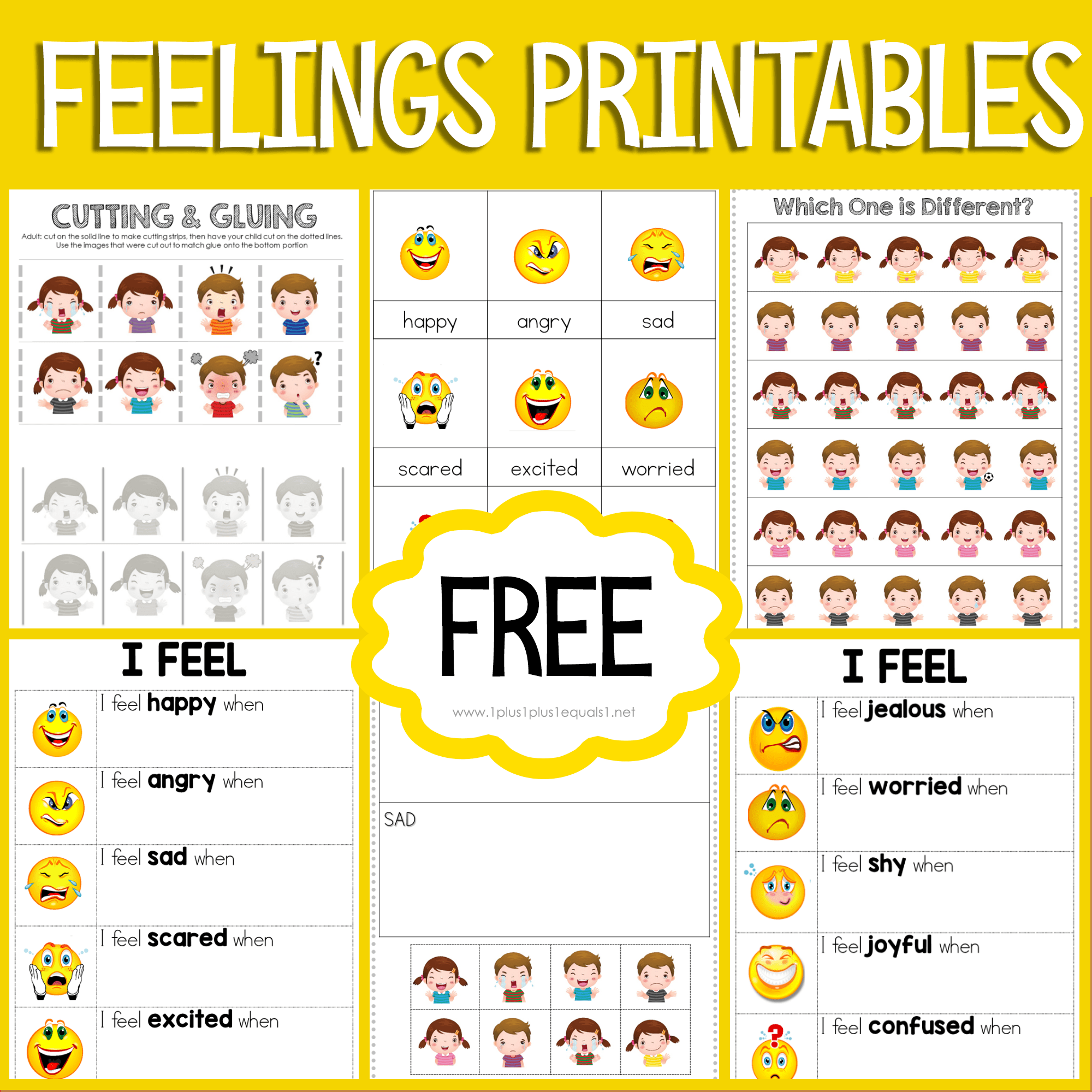 Feelings Printables For Kids