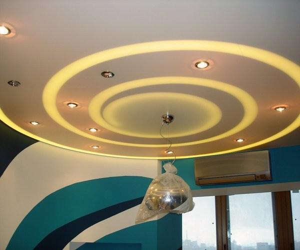 Потолок из гипсокартона с подсветкой своими руками ...