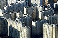 "Вид на дома жилого комплекса ""Марфино"" в Москве"