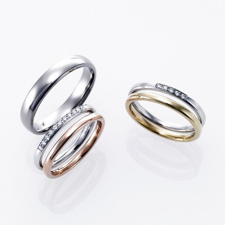 プラチナとゴールドの結婚指輪