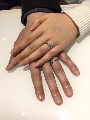 俄(にわか)の結婚指輪『ことほぎ』をご成約❤️(新潟市/K様・Y様)