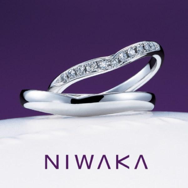 俄(にわか)NIWAKA 結婚指輪(マリッジリング)睡蓮(すいれん)画像