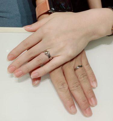 【婚約指輪・結婚指輪】俄のことのは・初桜・綾をご成約 阿賀野市・三条市Y様・S様