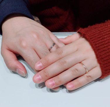 お洒落な都会派ブランド「ラピュール」の結婚指輪をご成約 新潟市M様・K様