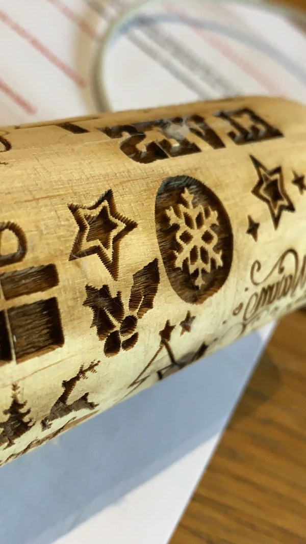 Assorted Xmas Icons Rolling Pin
