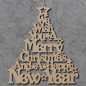 Words Christmas Plaque