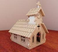 Wooden Church for Village decor