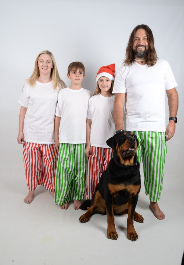 Green, Red and White Stripes Jammies 12