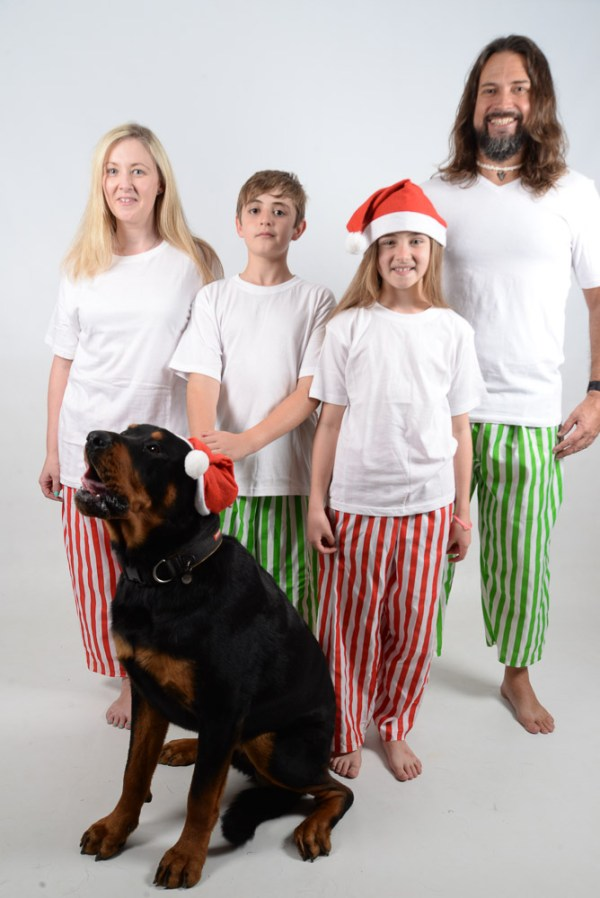 Green, Red and White Stripes Jammies 9