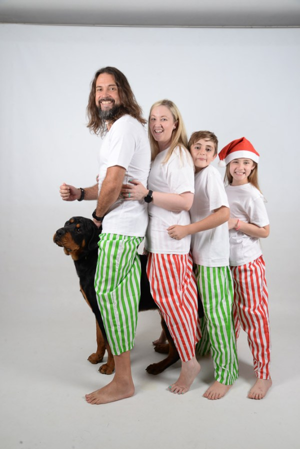 Green, Red and White Stripes Jammies 5
