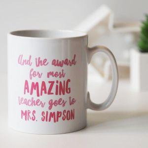 Teacher award mug