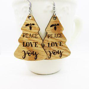 Earrings Peace love joy