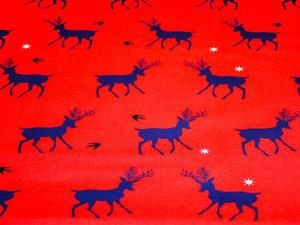 Red and Blue Reindeer Pattern