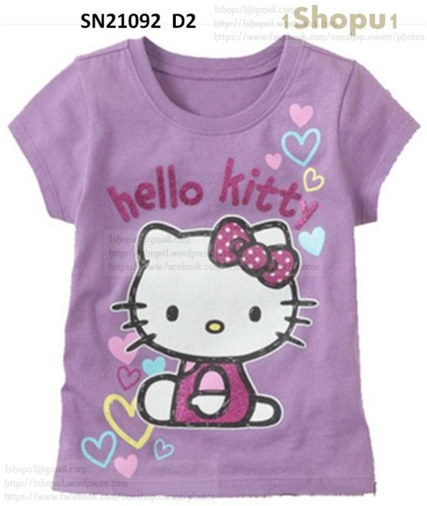 SN21092 Disney Cartoon T Shirt Hello Kitty, Garfield ...