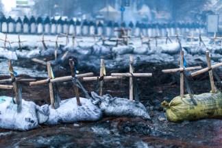 Protests in Kiev, Ukraine.