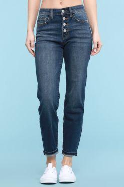 Button Fly Boyfriend Jeans