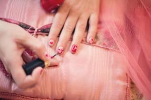 The beautiful wedding nail art I've ever seen.  Ever!