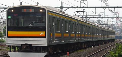 【JR東】205系ナハ48編成OM入場