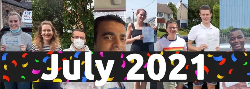 july 2021 driving test passes
