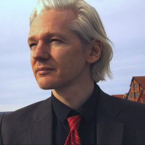 Julian Assange portrait by Espen Moe