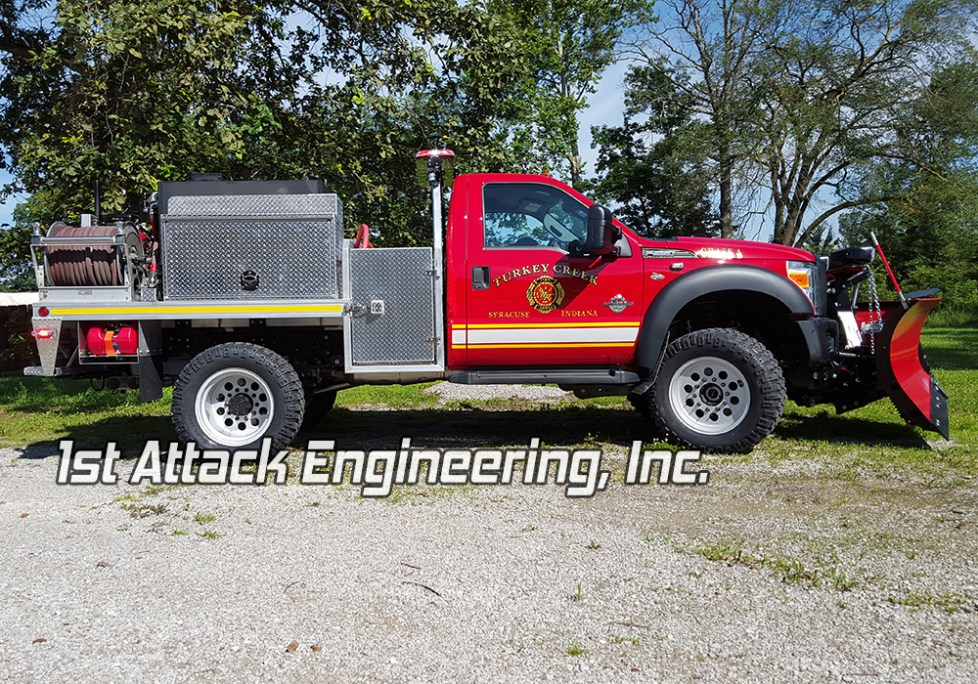 Turkey Creek Fire Department- passenger side/ snow plow