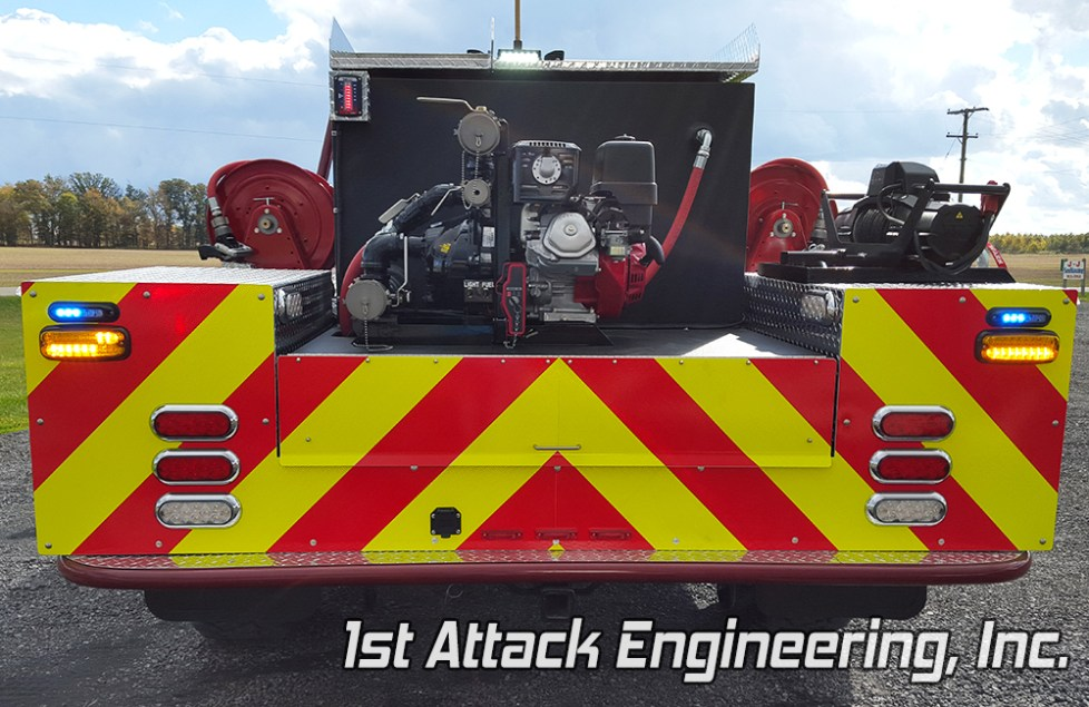 Pennsville Fire Department- back view of truck