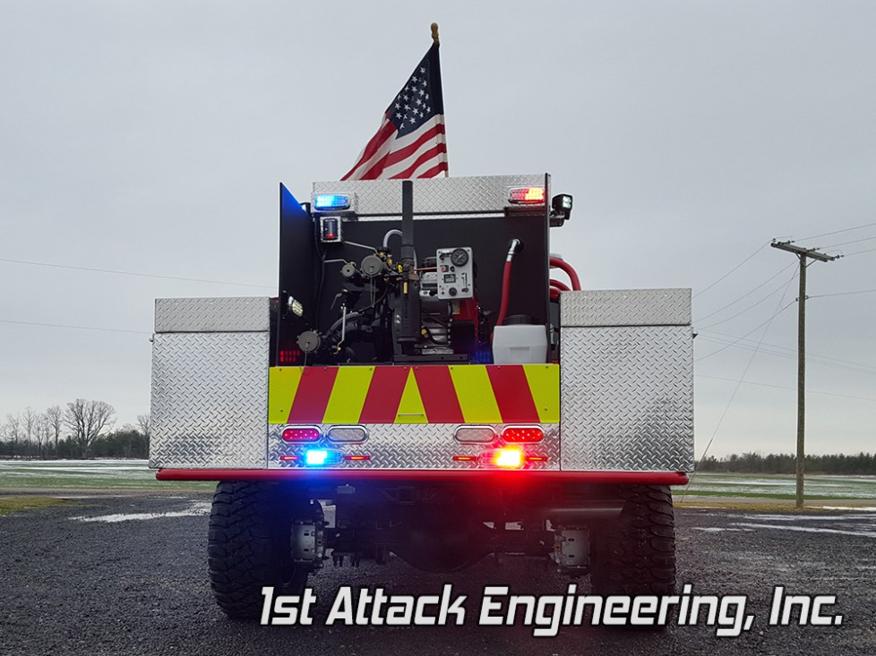 Blackjack Volunteer Fire Department Truck- Rear view
