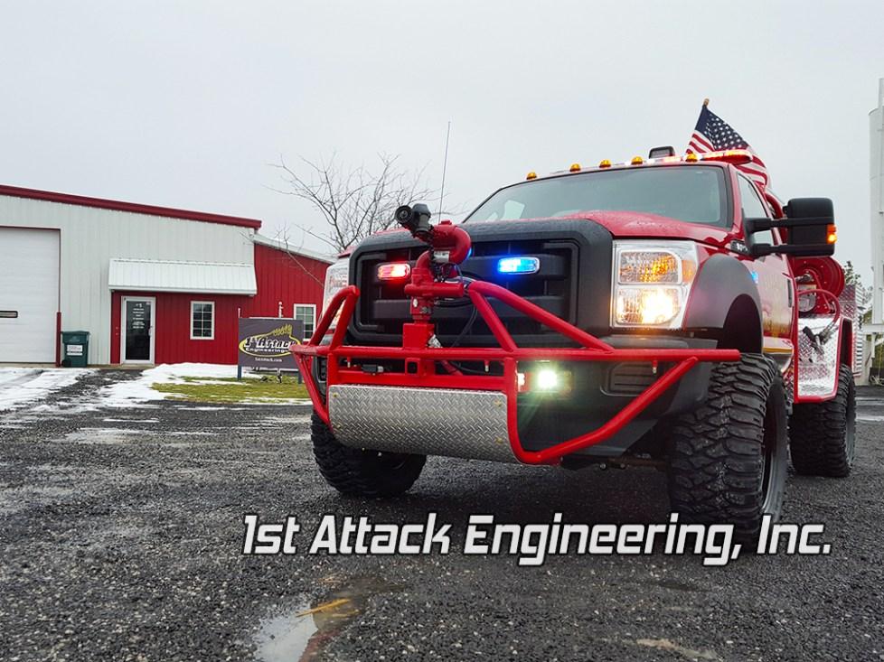 Blackjack Volunteer Fire Department Truck- front view