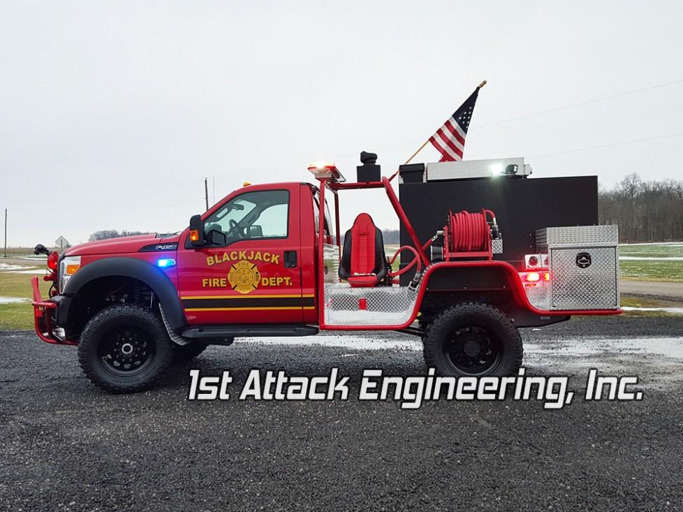 Blackjack Volunteer Fire Department Truck- driver side view