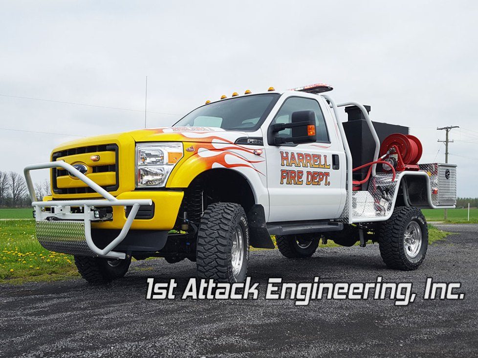 Harrell Fire Department front driver corner Fast Attack brush truck
