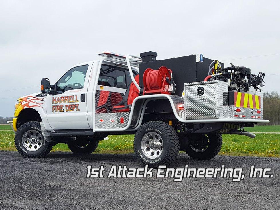 Harrell Fire Department Fast Attack Brush Truck Rear Driver Corner