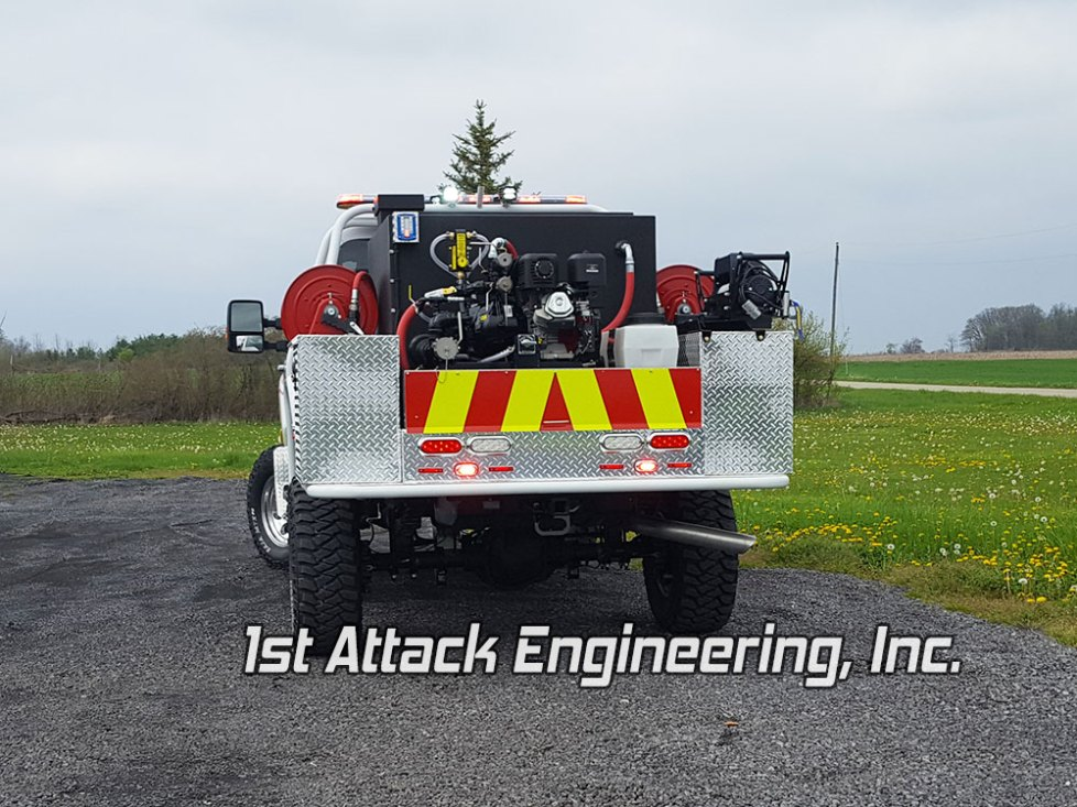 Rear view of Harrell Fire Department's Fast Attack truck