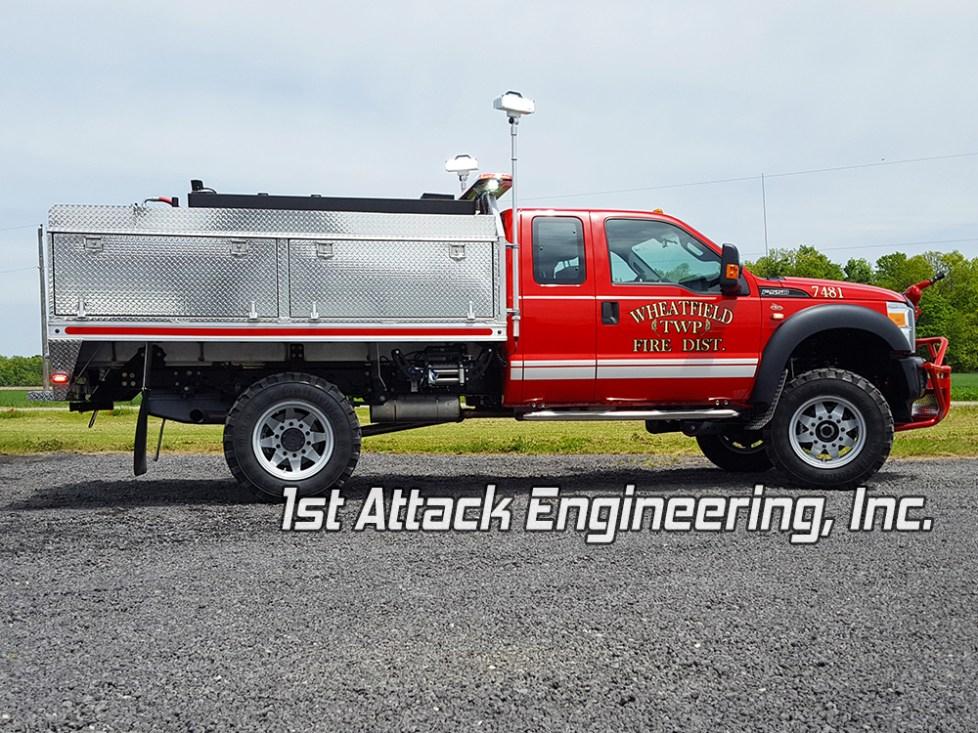 Wheatfield Fire Department passenger side profile