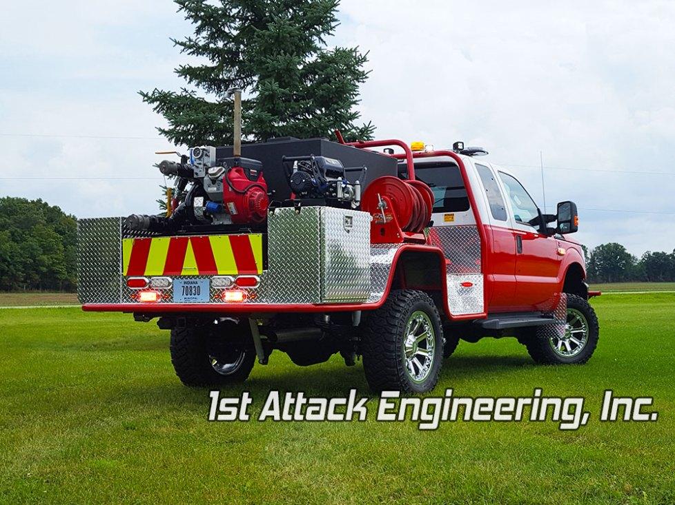 Rear Passenger Corner of Johnson Township Fire Department's Fast Attack
