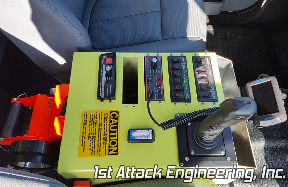Greenup Fire Department yellow customized center console