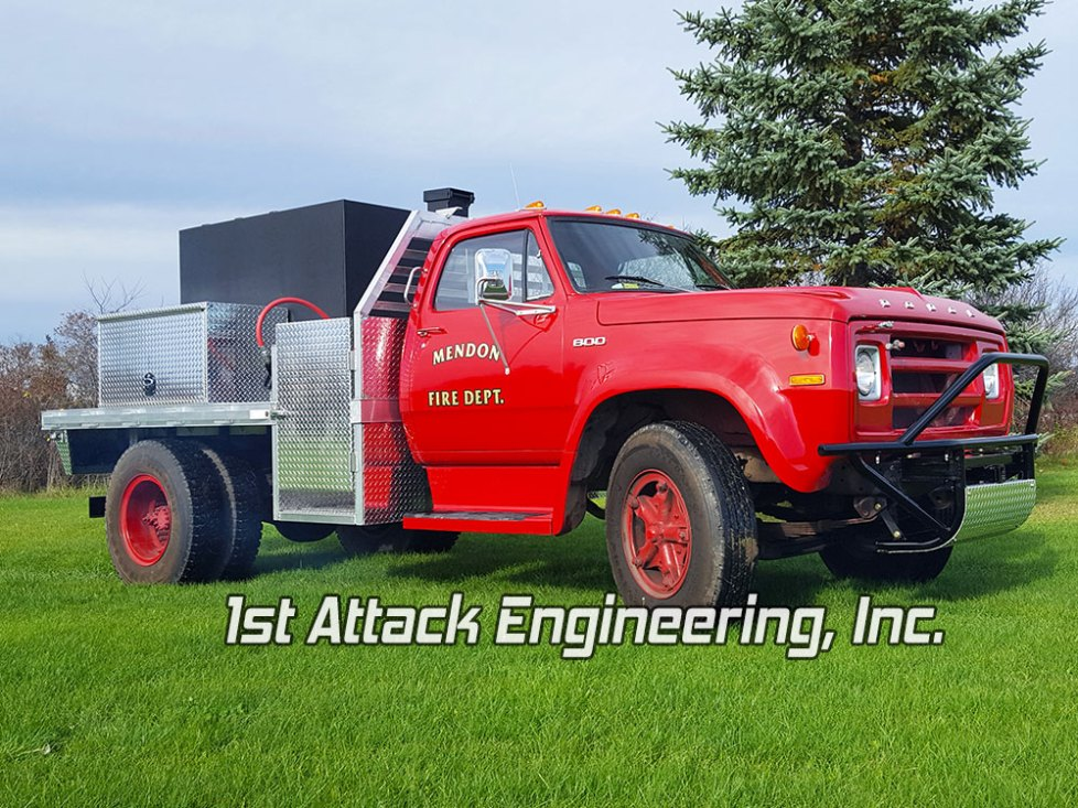 Mendon Fire Department's refurbish brush fire truck by 1st Attack Engineering
