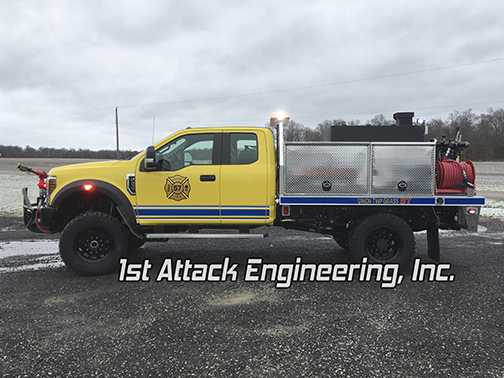 Aluminum Flatbed Brush Truck Driver Side angle
